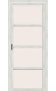 Раздвижная дверь Твигги V4, со стеклом, цвет Bianco Veralinga