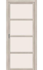 Раздвижная дверь Твигги V4, со стеклом, цвет Cappuccino Veralinga