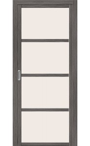 Раздвижная дверь Твигги V4, со стеклом, цвет Grey Veralinga