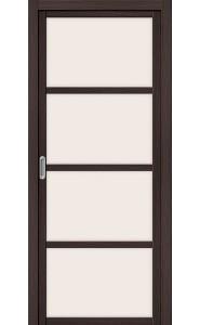 Раздвижная дверь Твигги V4, со стеклом, цвет Wenge Veralinga