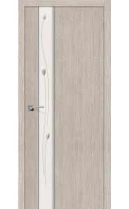 Межкомнатная дверь Глейс-1 Sprig, цвет 3D Cappuccino