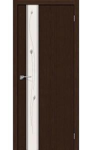Межкомнатная дверь Глейс-1 Sprig, цвет 3D Wenge