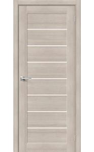 Межкомнатная дверь Браво-22, со стеклом, цвет Cappuccino