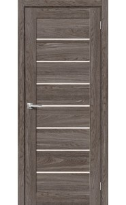 Межкомнатная дверь Браво-22, со стеклом, цвет Ash Wood