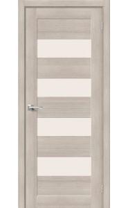 Межкомнатная дверь Браво-23, со стеклом, цвет Cappuccino
