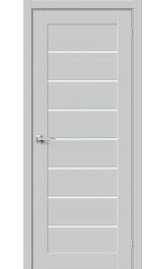 Межкомнатная дверь Браво-22, со стеклом, цвет Grey Mix