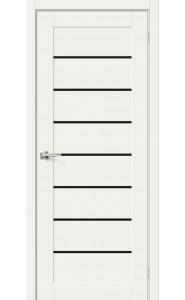 Межкомнатная дверь Браво-22, со стеклом, цвет White Mix