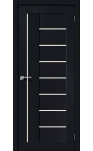 Межкомнатная дверь Браво-29, со стеклом, цвет Black Mix
