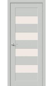Межкомнатная дверь Браво-23, со стеклом, цвет Grey Mix