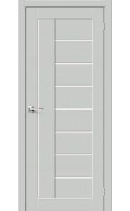 Межкомнатная дверь Браво-29, со стеклом, цвет Grey Mix