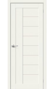 Межкомнатная дверь Браво-29, со стеклом, цвет White Mix
