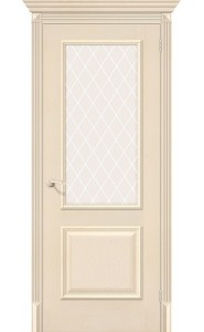 Межкомнатная дверь Классико-13, со стеклом, цвет Ivory