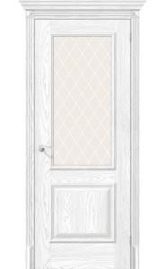 Межкомнатная дверь Классико-13, со стеклом, цвет Silver Ash