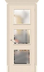 Межкомнатная дверь Классико-17.3, со стеклом, цвет Ivory
