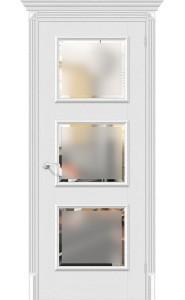 Межкомнатная дверь Классико-17.3, со стеклом, цвет Virgin