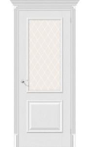 Межкомнатная дверь Классико-13, со стеклом, цвет Virgin