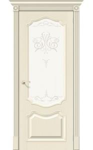 Межкомнатная дверь Вуд Классик-53, со стеклом, цвет Ivory
