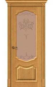 Межкомнатная дверь Вуд Классик-53, со стеклом, цвет Natur Oak