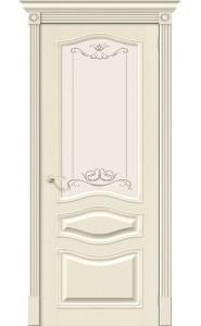 Межкомнатная дверь Вуд Классик-51, со стеклом, цвет Ivory
