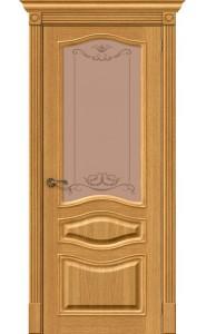 Межкомнатная дверь Вуд Классик-51, со стеклом, цвет Natur Oak
