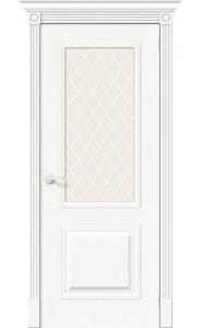 Межкомнатная дверь Вуд Классик-13, со стеклом, цвет Whitey