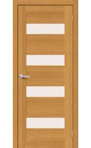 Межкомнатная дверь Вуд Модерн-23, со стеклом, цвет Natur Oak