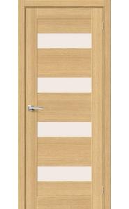 Межкомнатная дверь Вуд Модерн-23, со стеклом, цвет Just Oak