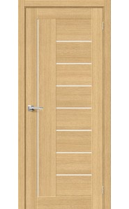 Межкомнатная дверь Вуд Модерн-29, со стеклом, цвет Just Oak