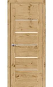 Межкомнатная дверь Вуд Модерн-22, со стеклом, цвет Barn Oak