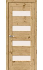 Межкомнатная дверь Вуд Модерн-23, со стеклом, цвет Barn Oak