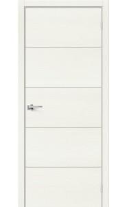 Межкомнатная дверь Вуд Арт-1.H, цвет Whitey