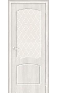 Межкомнатная дверь Альфа-2, со стеклом, цвет Casablanca