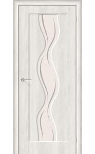 Межкомнатная дверь Вираж-2, со стеклом, цвет Casablanca