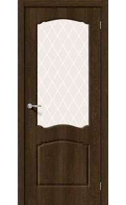 Межкомнатная дверь Альфа-2, со стеклом, цвет Dark Barnwood