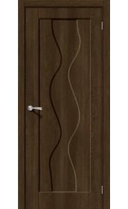 Межкомнатная дверь Вираж-1, цвет Dark Barnwood