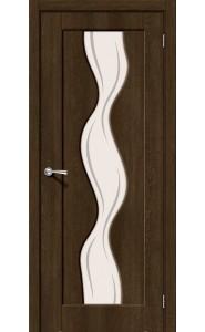 Межкомнатная дверь Вираж-2, со стеклом, цвет Dark Barnwood