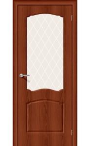 Межкомнатная дверь Альфа-2, со стеклом, цвет Italiano Vero