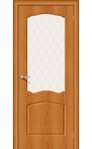 Межкомнатная дверь Альфа-2, со стеклом, цвет Milano Vero