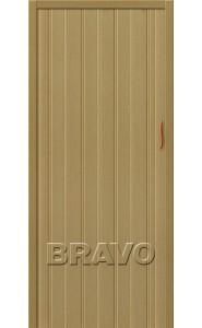 Раздвижная пластиковая дверь Браво-008, Светлый Дуб