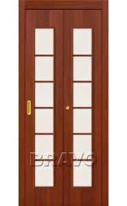 Дверь складные 2С, Л-11 (ИталОрех)