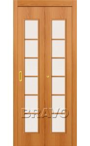 Дверь гармошка 2С, Л-12 (МиланОрех)