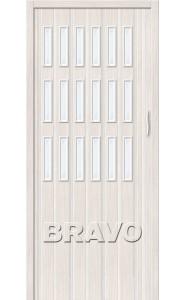 Раздвижная пластиковая дверь Браво-018, Белый Дуб