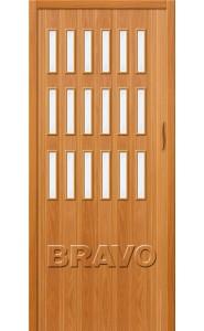 Раздвижная пластиковая дверь Браво-018, МиланОрех
