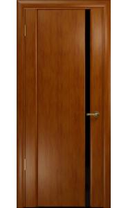 Дверь Арт Деко Спациа 1 Темный анегри Черный триплекс
