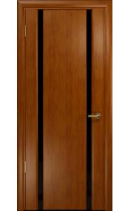 Дверь Арт Деко Спациа 2 темный анегри ДО черный триплекс