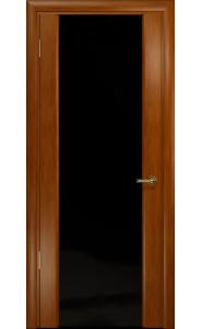 Дверь Арт Деко Спациа 3 Темный анегри ДО черный триплекс