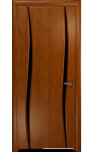 Дверь Арт Деко Вэла 2 темный анегри ДО черный триплекс