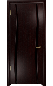 Дверь Арт Деко Вэла 2 венге ДО черный триплекс