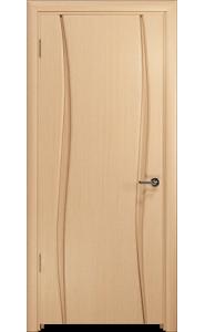 Дверь Арт Деко Вэла 2 беленый дуб ДГ