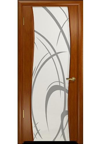Дверь Арт Деко Вэла Темный анегри Светлый триплекс рисунок